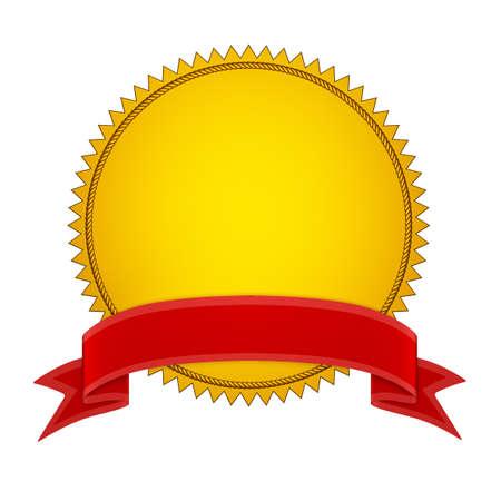 seal stamper: Gold Seal Stamper with Red ribbon