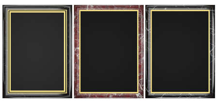 Black and Red Marble Plaque Collection Stock Photo - 21966848