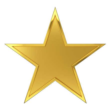 Gehämmert Goldene Star Award Standard-Bild