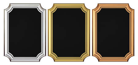 Gold - Silver - Bronze Plaque Collection Stock Photo - 21966853