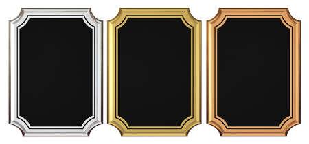 memorial plaque: Gold - Silver - Bronze Plaque Collection