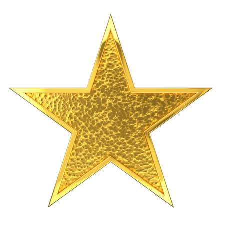 hammered: Hammered Golden Star Award  Stock Photo