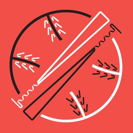 fastball: Two Baseball Bats and Ball, Sport Graphic, Label, Banner, Logo Elements. Illustration, Vector Illustration