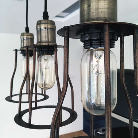 A classic vintage lamp for kitchen area