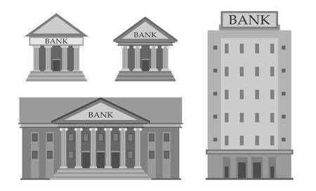 structuring: Bank Buildings illustration Illustration