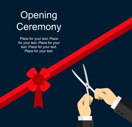 ribbon cutting: Ribbon cutting ceremony, hands with scissors