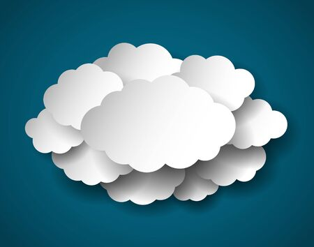 clouds scape: Blank cloud in center for your text or other information. Vector EPS 10.