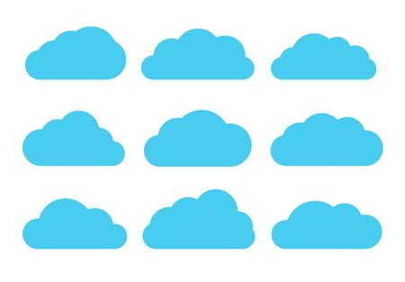 large group of objects: Useful set of clouds for internet use. Vector EPS 10. Illustration