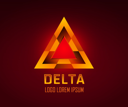 delta: Triangle figure or delta symbol vector logo. You can change color in Illustrator by using Recolor Artwork tool. Vector EPS 10.