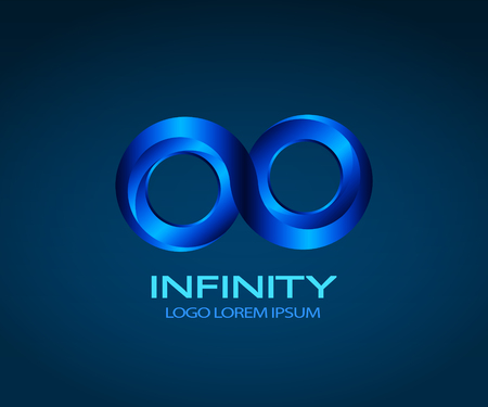 illustrator 10: Infinity symbol vector logo. You can change color in Illustrator by using Recolor Artwork tool. Vector EPS 10.