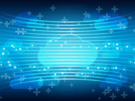 digital background: Digital cloud background