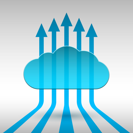 cloud technology: Abstract technology cloud illustration