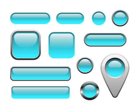 blank button: Glossy and metallic web buttons for internet and apps