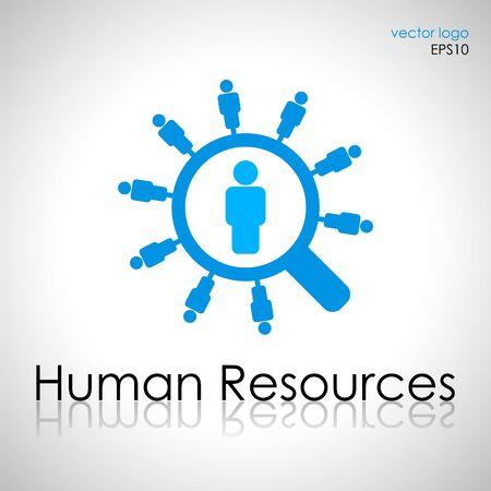 Human resources management concept icon Illustration