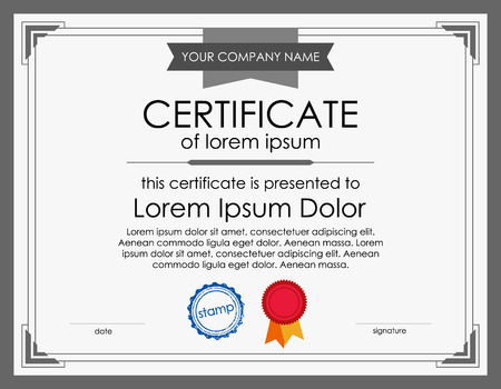 Certificate Template With Border Executive Formal Style Royalty