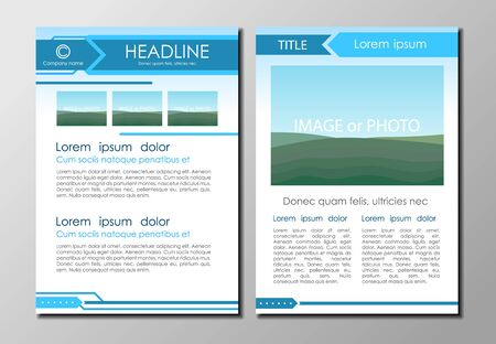 page layout: Brochure design layout, size A4, front and back page template Illustration