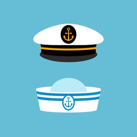 Sailor hat set, marine captain clothing