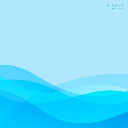 smooth: Blue abstract background, smooth waves