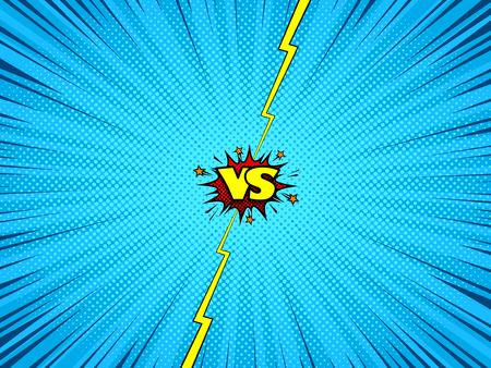 Comic book versus background, superhero dialog window Çizim
