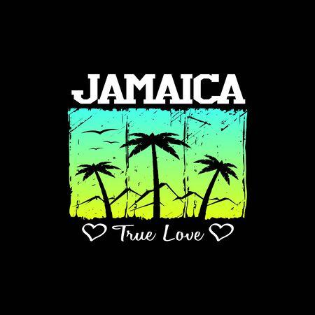 Jamaica graphic art design element