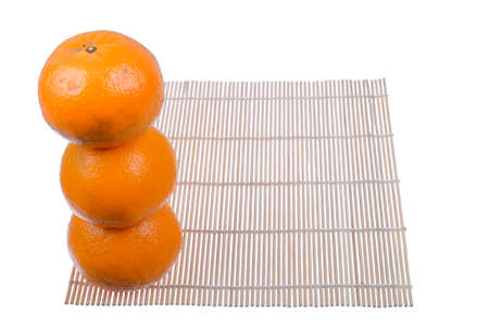 Beautiful and delicious Mandarin orange on white background
