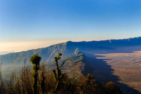 Mount Bromo volcano during sunrise from viewpoint. Mount Bromo is an active volcano and one of the most visited tourist attractions in East Java, Indonesia. KK