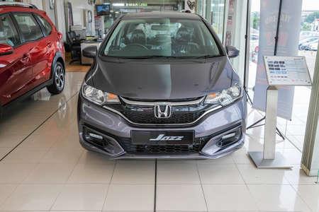 Segamat, Malaysia - November 27th , 2019 : The Honda car dealership on Segamat , Malaysia  with new cars for sale . Editorial