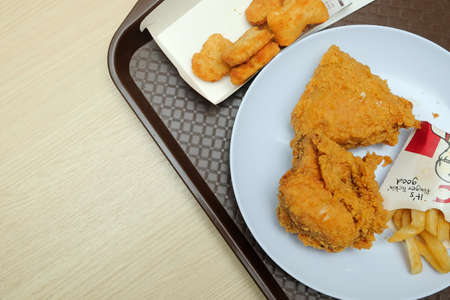 Muadzam Shah, January 24th, 2020 : Kentucky Fried Chicken (KFC) restaurant, fast food. KFC is a fast food restaurant chain that specializes in fried chickenT
