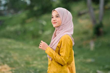 Stylish Muslim female hijab fashion lifestyle portraiture concept. Reklamní fotografie