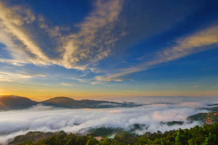 Amazing sunrise and  cloud with mountains Stock Photo