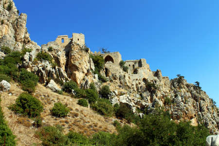 st hilarion: St. Hilarion Castle in Kyrenia, North Cyprus Editorial