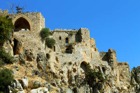 st hilarion: St. Hilarion Castle in Kyrenia, North Cyprus. Horizontal image