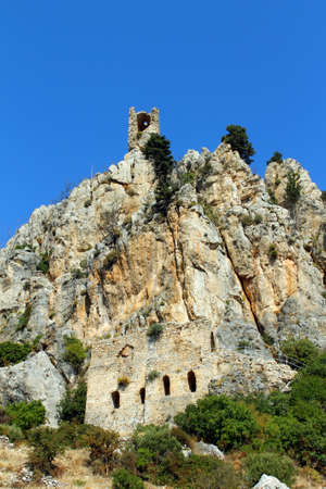 st hilarion: St. Hilarion Castle in Kyrenia, North Cyprus. Vertical image