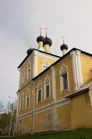 uglich russia: Orthodox church of Resurrection of Jesus Christ and Saint Flor and Laur in town Uglich in Russia