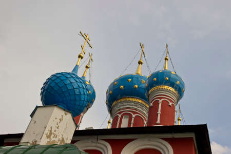 uglich russia: Domes of Church of St. Dmitry on the Blood in Uglich, Russia