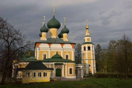 uglich russia: Church of St. John the Baptist on the Volga River. Uglich, Russia