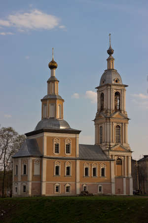 orthodox church: Orthodox church in the town of Uglich at sunset