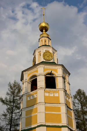 uglich russia: Church of St. Belfry of John the Baptist on the Volga River. Uglich, Russia