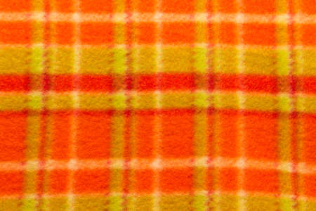Abstract textile checkered background close up. Horizontal image photo