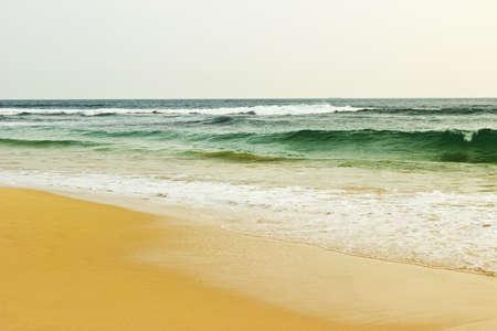 Sea surf on the beach, Sri lanka photo