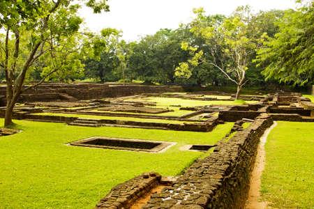 Old ruins of Sigiriya Castle in Sri Lnaka photo