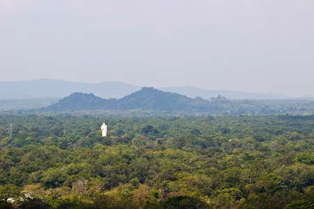 mounts: Landscape with mounts and Buddha statue, Sigiriya.