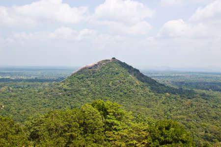 sigiriya: Landscape with green hill. View from Sigiriya rock