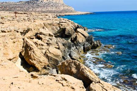 greco: Sea cliffs, Cape Greco, Cyprus