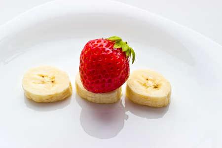 fruit mix: Fruit mix on white dish Stock Photo