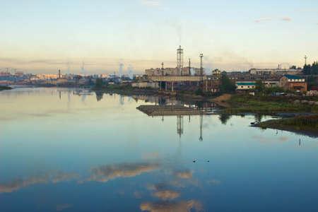 paesaggio industriale: Estate paesaggio industriale