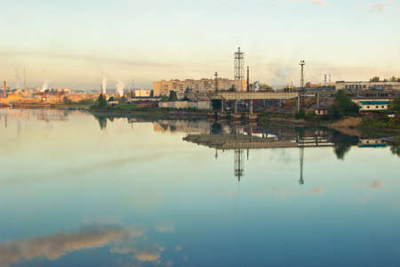 industrial landscape: Summer industrial landscape Archivio Fotografico