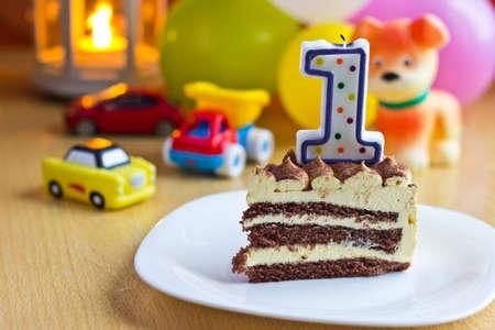 kerze: erster Geburtstag