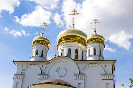 domes: Golden domes of Christianity orthodox cathedral