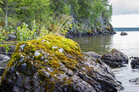 onega: Onega lake rocky landscape Stock Photo